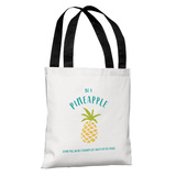 Be A Pineapple - White Tote Bag by OBC Tote Bag