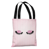 Eyelashes Watercolor Stripes Pink - Tote Bag Tote Bag
