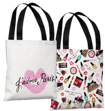 Jadore Paris Pink - Pink Tote Bag by Timree Tote Bag