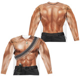 Long Sleeve: Rambo Iii- Rambo Costume Tee (Front/Back) Sublimated