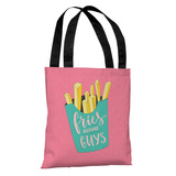 Fries Before Guys - Pink Multi Tote Bag by OBC Tote Bag