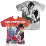 Gone With The Wind- Poster Art (Front/Back) T-shirts