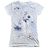 Juniors: Voltron- Blueprint For A Defenfer T-shirts