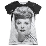 Juniors: Lucille Ball- Glamourou Shot Womens Sublimated