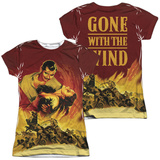 Juniors: Gone With The Wind- Fire And Love (Front/Back) Womens Sublimated