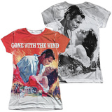 Juniors: Gone With The Wind- Poster Art (Front/Back) Womens Sublimated