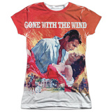 Juniors: Gone With The Wind- Poster Art Womens Sublimated