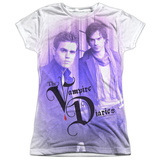 Juniors: Vampire Diaries- Young Stefan And Damon Womens Sublimated