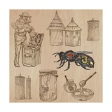 Bees, Beekeeping, and Honey Prints by  KUCO