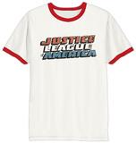 Justice League - Vintage Logo Ringer Magliette