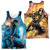 Tank Top: Mortal Kombat- Sub Zero Vs. Scorpion (Front/Back) Tank Top