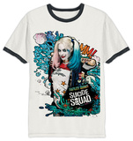 Suicide Squad - Graffiti Harley Ringer T-Shirts