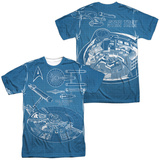 Star Trek- NCC1701 Blueprints (Front/Back) T-Shirt