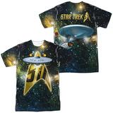 Star Trek- 5Th Annoversaty Enterprise (Front/Back) T-Shirt
