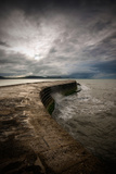 A Stormy Day on the Cobb at Lyme Regis in Dorset, England UK Photographic Print by Tracey Whitefoot