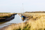Gibraltar Point Inlet Coastal Estuary Boats Yachts Skegness Lincolnshire UK England Photographic Print by Paul Thompson
