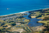 Kaikorai Lagoon and Waldronville, Dunedin, Otago, South Island, New Zealand - Aerial Photographic Print by David Wall
