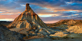 Castildeterra Rock Formation, the Bardena Blanca Area of the Bardenas Riales Natural Park, Spain Photographic Print by Paul Williams
