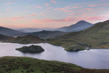 A Beautiful Sky Glows Above Llyn Dywarchen, Snowdonia, at Sunrise Photographic Print by John Greenwood