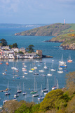 Boats Moored in the Sheltered Waters of Fowey Estuary Near Polruan, Cornwall, England Photographic Print by Adam Burton