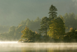 Mist over Lake Derwent Water at Dawn, Brandlehow, Borrowdale, the Lake District Photographic Print by John Potter