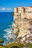 Bonifacio Old Town, Limestone Cliff, Corsica Island, France Photographic Print by Jan Wlodarczyk