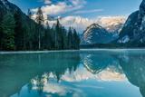 Lago Di Landro at Dawn, Dolomite Mountains, Sud Tirol/Alto Adige, Italy Photographic Print by David Noton