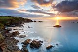 A Winter Sunrise over Polpeor Cove, the Lizard Cornwall Photographic Print by Helen Dixon