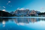 Lago Misurina at Dawn, Dolomite Mountains, Belluno Province, Veneto, Italy Photographic Print by David Noton