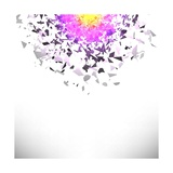 Explosion Cloud of Grey Pieces Posters by Valerii Stoika