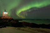Aurora Borealis, Near Eggum, Lofoten, Norway Photographic Print by Klaus-Peter Wolf
