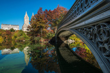 Bow Bridge Reflected into the Lake, Central Park, Manhattan, New York, USA Photographic Print by Stefano Politi Markovina