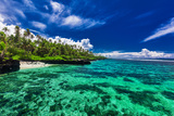Beach with Coral Reef on South Side of Upolu, Samoa Islands Photographic Print by Martin Valigursky