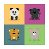 Cute Cartoon Animals Posters by Nestor David Ramos Diaz