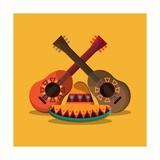 Mexican Culture Related Icons Image Prints by  Jemastock