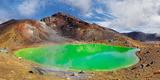 Green Sulphurous Emerald Lakes and Volcanio Mt Tongariro, Tongariro National Park, New Zealand Photographic Print by Klaus-Peter Wolf