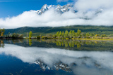 Niut Mountains Reflected in a Pond in Front of Tatlayoko Lake, British Columbia Photographic Print by Chris Cheadle