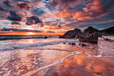 Views across the Beach at Whitsand Bay Photographic Print by Paul Mortlock