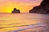 Pan Di Zucchero at Sunset Time, Masua Village, Sardinia Island, Italy Photographic Print by Jan Wlodarczyk