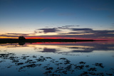 Sunset Blue Hour on the Causeway on Holy Island, Northumberland England UK Photographic Print by Tracey Whitefoot