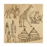 From the Traveling Series: South Africa - Collection of an Hand Drawn Illustrations Posters by  KUCO