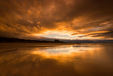 Sunset on the Beach at Bamburgh, Northumberland England UK Photographic Print by Tracey Whitefoot