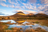 Reflections on a Lochan at Sligachan Bridge on the Isle of Skye, Scotland UK Photographic Print by Tracey Whitefoot