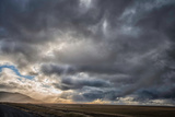 View of Storm Clouds over Field Photographic Print by David Smith