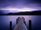 Dawn, Brandelhow Bay, Derwent Water, Lake District National Park, Cumbria, England, United Kingdom Photographic Print by Klaus-Peter Wolf