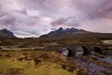 Dusk at Sligachan Bridge, Isle of Skye Scotland UK Photographic Print by Tracey Whitefoot