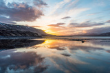 Sunset over Hvalfjörður Fjord, West Iceland, Iceland Photographic Print by Klaus-Peter Wolf