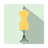 Dressmaker Model Flat Icon Posters by Yulia Ryabokon