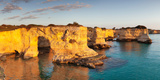Rugged Cliffs, Sant'Andrea, Adria, Otranto, Province of Lecce, Salentine Peninsula, Apulia, Italy Photographic Print by Klaus-Peter Wolf