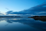 Reflections in Waihopai River at Dusk, Invercargill, Southland, South Island, New Zealand Photographic Print by David Wall
